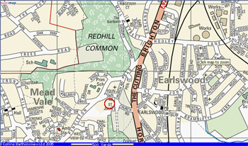 Click the map to find The Plough, St. Johns, Redhill on Multimap